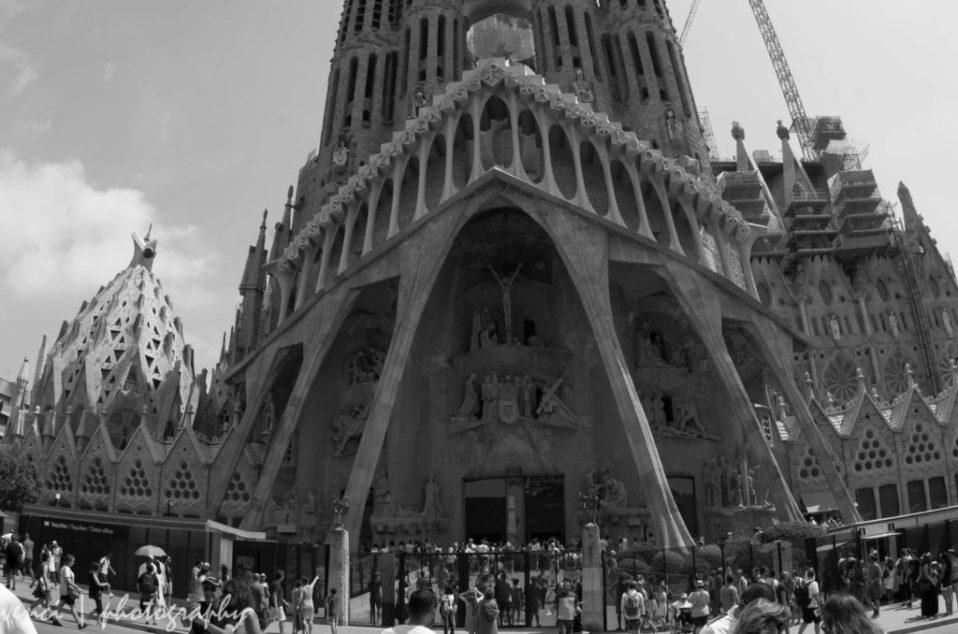West Facade, La Sagrada Familia, Gaudi, Barcelona,