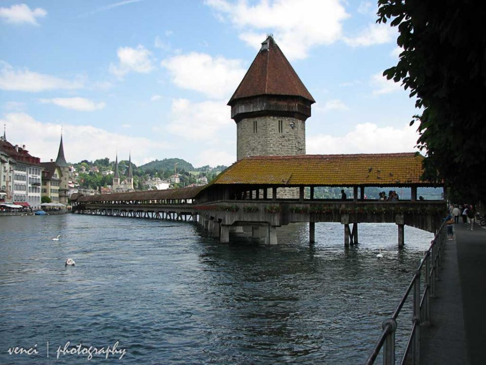 Chapel Bridge (Kapellbrucke) & Water Tower, Luzerne, Swuiss
