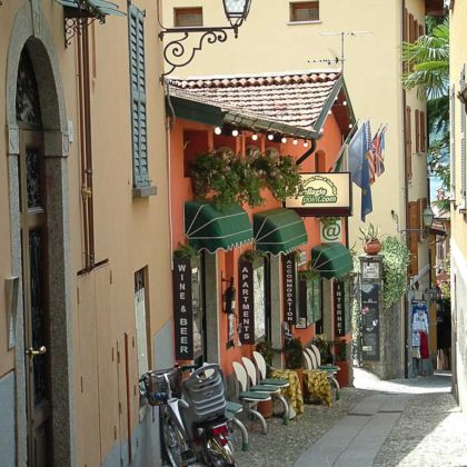 street in Bellagio, Northern Italy