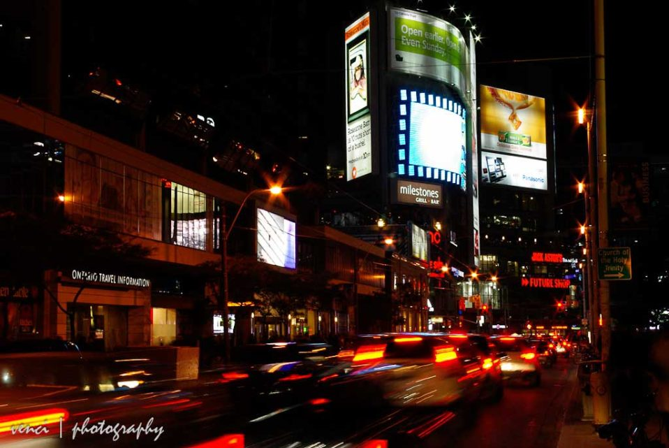 Dundas Street, Toronto at night