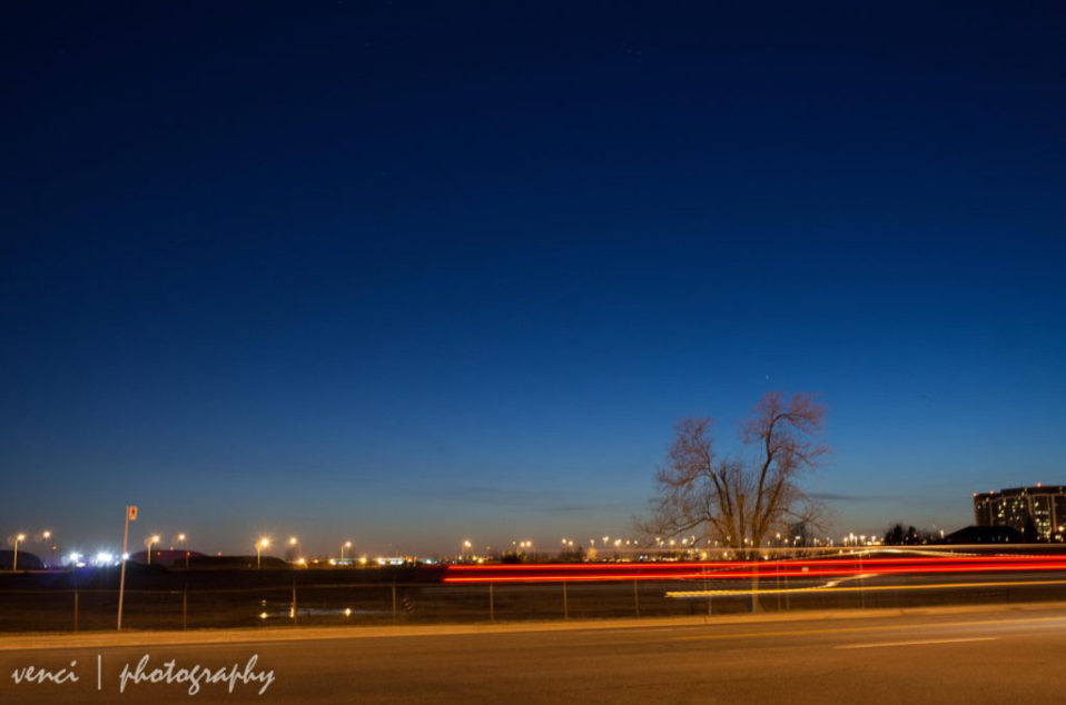Mercury after sunset, Toronto, near Downsview TTC station