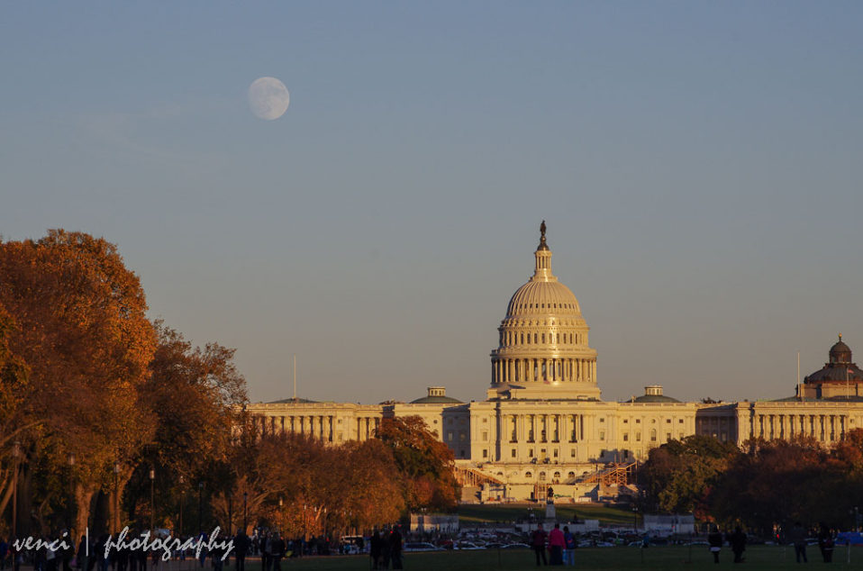 Full Moon over Capitol, Washington DC