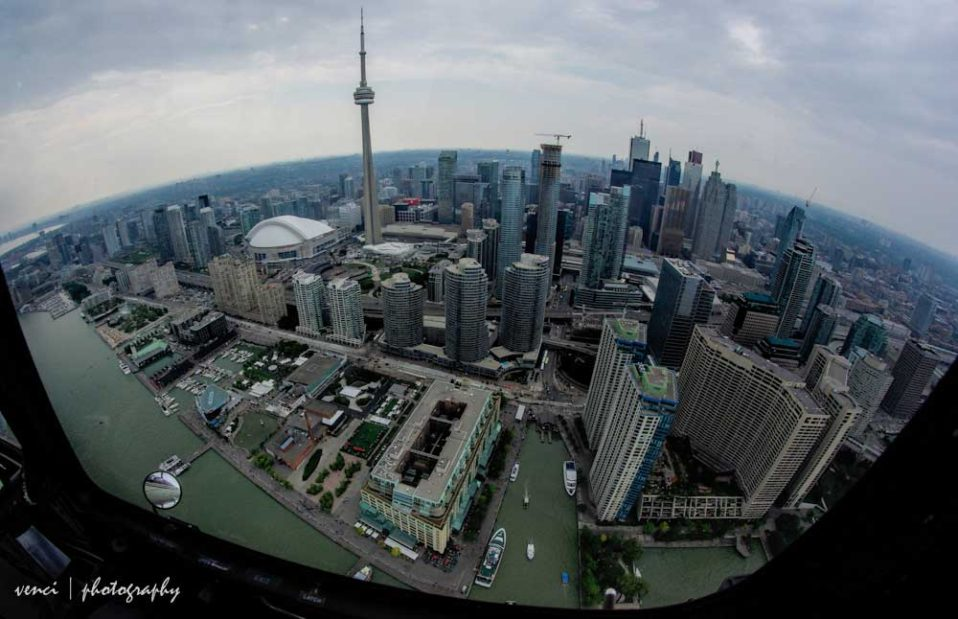 Toronto from air, helicopter tour