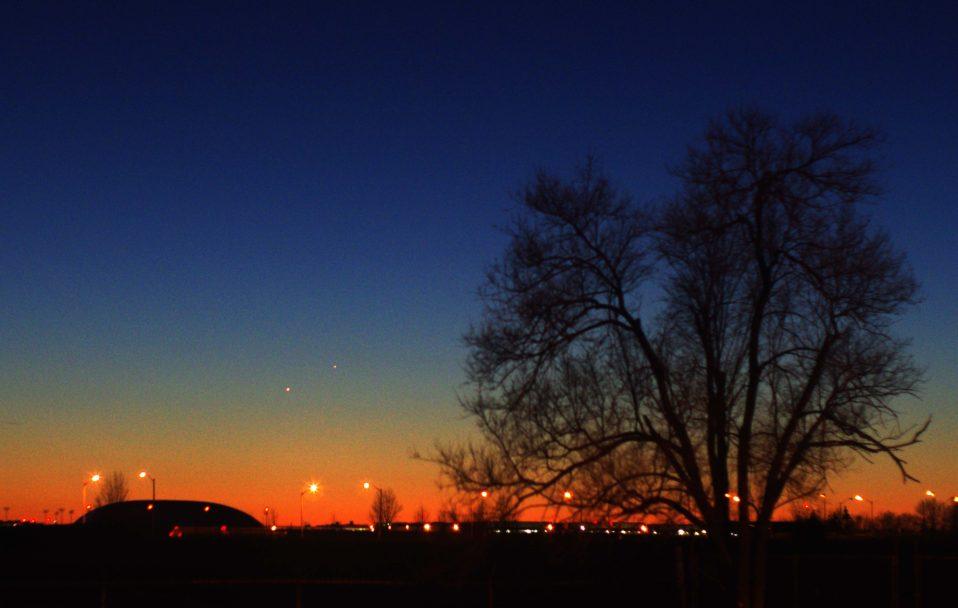 Venus Mercury evening sky